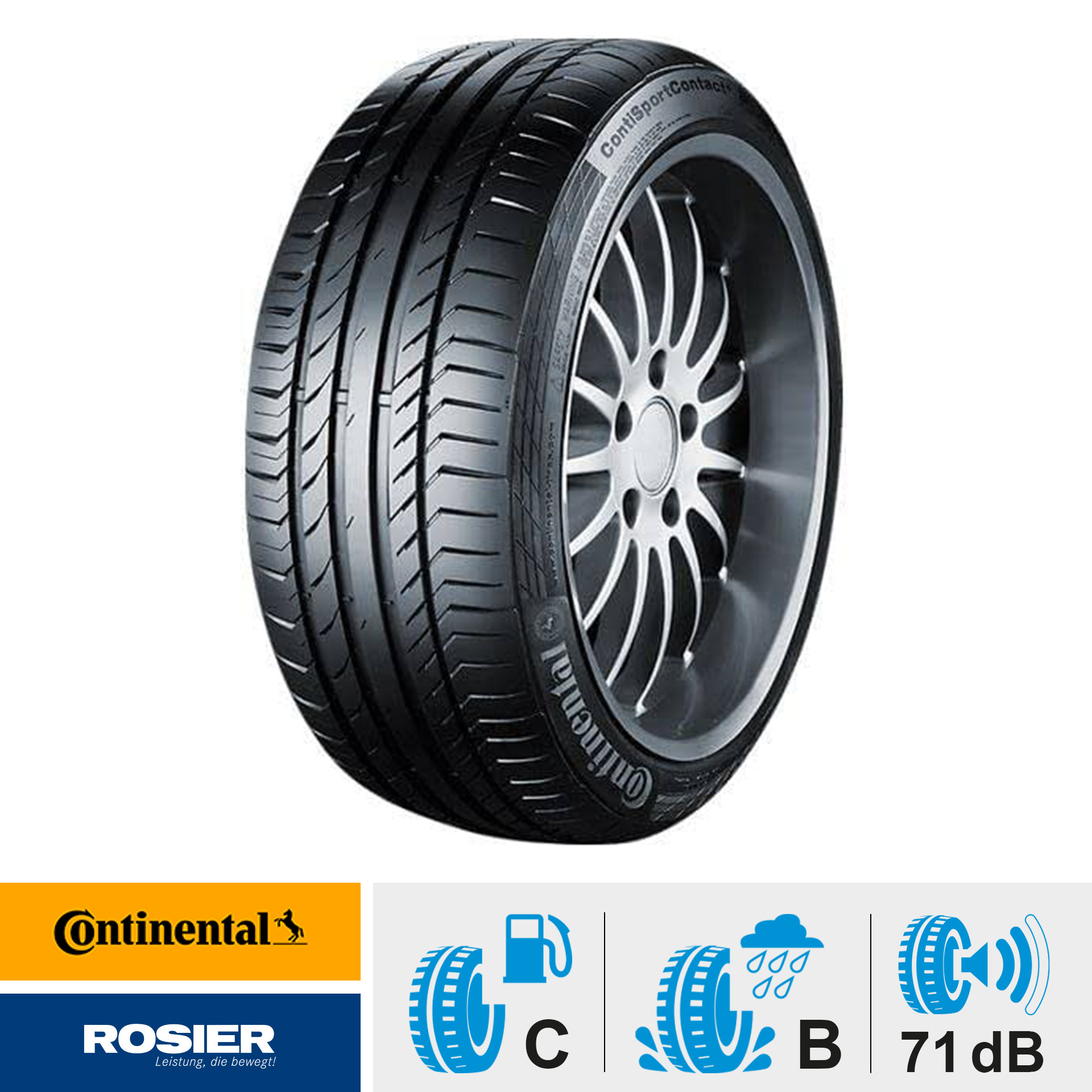 Continental SportContact 5 225/45 R17 91W MO - Sommerreifen