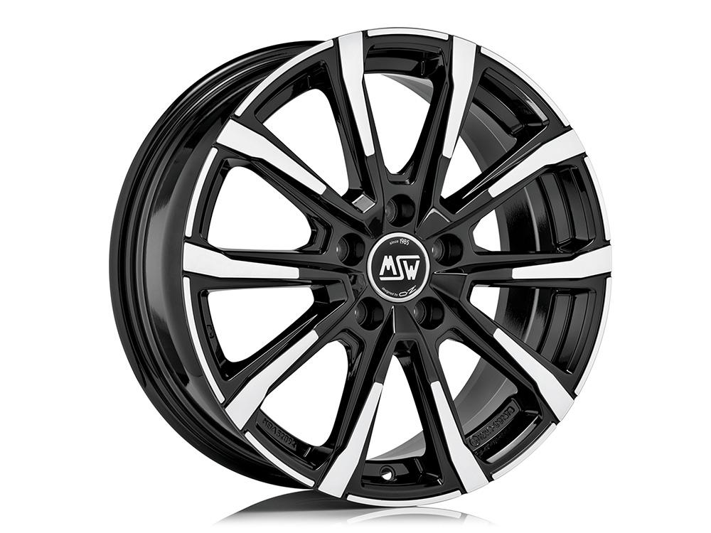 Leichtmetallfelge MSW 79 gloss black full polished 18 Zoll 4er Set