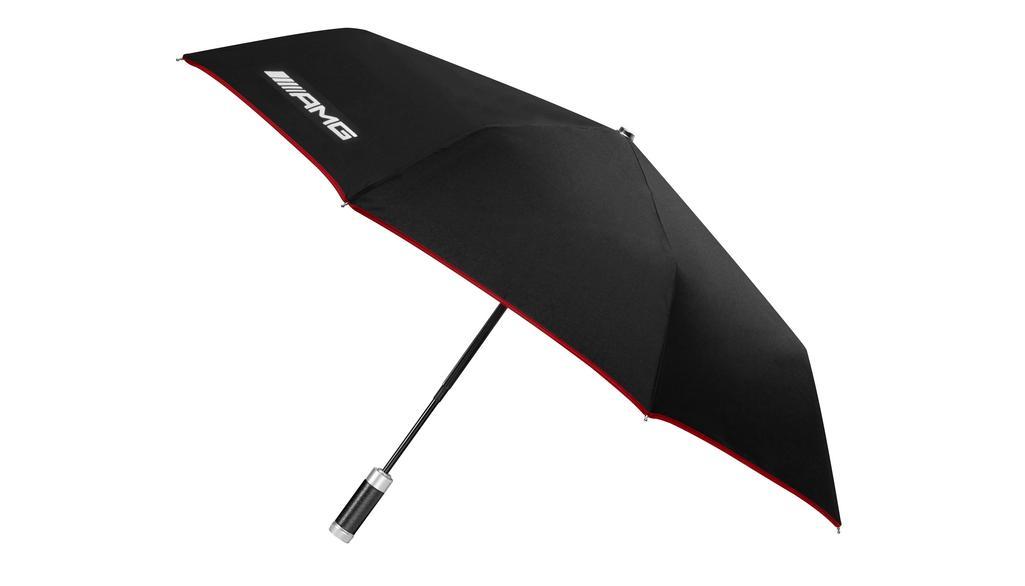 Mercedes-AMG Taschenschirm Regenschirm schwarz rot