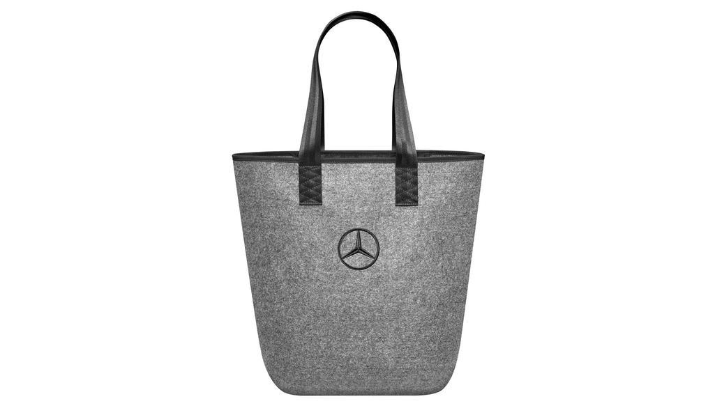Mercedes-Benz Einkaufstasche grau/schwarz